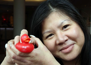 Hastings Hotels employee Billy Wong is pictured with our special Chinese New Year duck